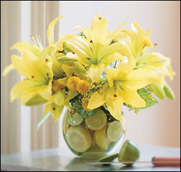 Lilies with Lemons and Limes from Inglis Florist in Tucson, AZ