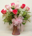 Delicate Shades Of Pink Rose Bouquet<br>Inglis Florists
