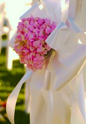 Pink Hydrangea Bow Decor from Inglis Florist in Tucson, AZ
