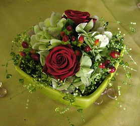 Green Bead Centerpiece from Inglis Florist in Tucson, AZ