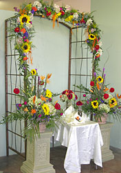 Arch and Pedestals from Inglis Florist in Tucson, AZ