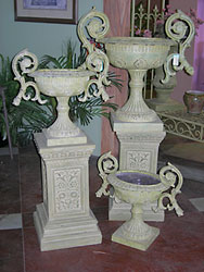 Urns and Pedestals from Inglis Florist in Tucson, AZ