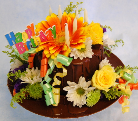 Inglis Florists Happy Birthday Cake From Florist In Tucson AZ Click Here For Larger Image