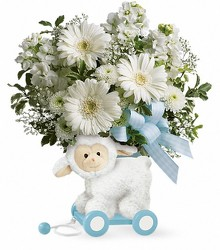 Teleflora's Sweet Little Lamb - Baby Blue from Inglis Florist in Tucson, AZ