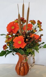 Pumpkin Pitcher Bouquet<br>Inglis Florists from Inglis Florist in Tucson, AZ