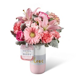 The FTD Sweet Baby Girl Bouquet by Hallmark from Inglis Florist in Tucson, AZ