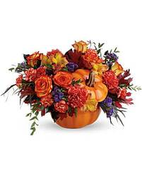 Teleflora's Hauntingly Pretty Pumpkin Bouquet from Inglis Florist in Tucson, AZ