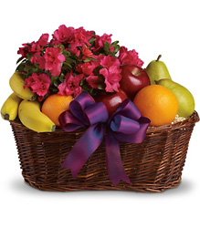 Fruits and Blooms Basket<br>Teleflora from Inglis Florist in Tucson, AZ