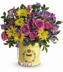Teleflora's Blooming Pail Bouquet from Inglis Florist in Tucson, AZ