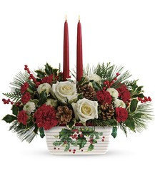 Teleflora's Halls Of Holly Centerpiece from Inglis Florist in Tucson, AZ