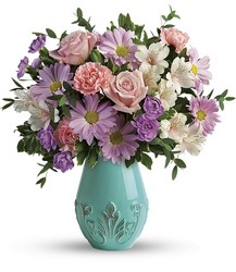 Teleflora's Blushing Aqua Bouquet from Inglis Florist in Tucson, AZ