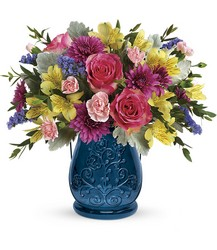 Teleflora's Burst Of Blue Bouquet from Inglis Florist in Tucson, AZ