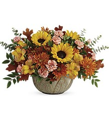 Teleflora's Autumn Sunbeams Centerpiece from Inglis Florist in Tucson, AZ