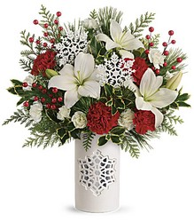 Teleflora's Festive Flurries Bouquet from Inglis Florist in Tucson, AZ