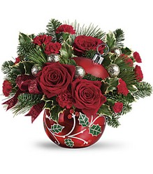 Teleflora's Deck The Holly Ornament Bouquet from Inglis Florist in Tucson, AZ