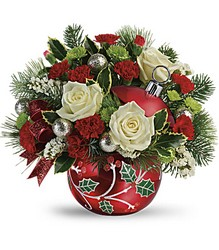 Teleflora's Classic Holly Ornament Bouquet from Inglis Florist in Tucson, AZ