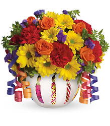 Teleflora's Brilliant Birthday Blooms from Inglis Florist in Tucson, AZ