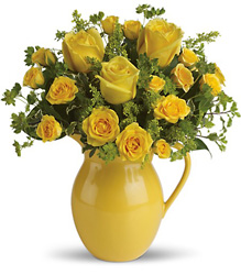 Teleflora's Sunny Day Pitcher of Roses from Inglis Florist in Tucson, AZ