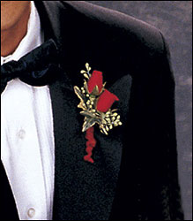 Red-Hot Roses Boutonniere from Inglis Florist in Tucson, AZ