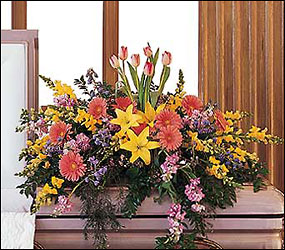 Blooming Glory Casket Spray from Inglis Florist in Tucson, AZ
